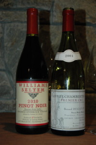 Williams & Selyem Pinot Noir and Dugat-Py Gevrey-Chambertin