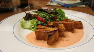 Pinot Gris and Swordfish with Roasted Red Pepper Aioli