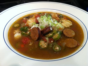 Riesling and Mardi Gras Gumbo