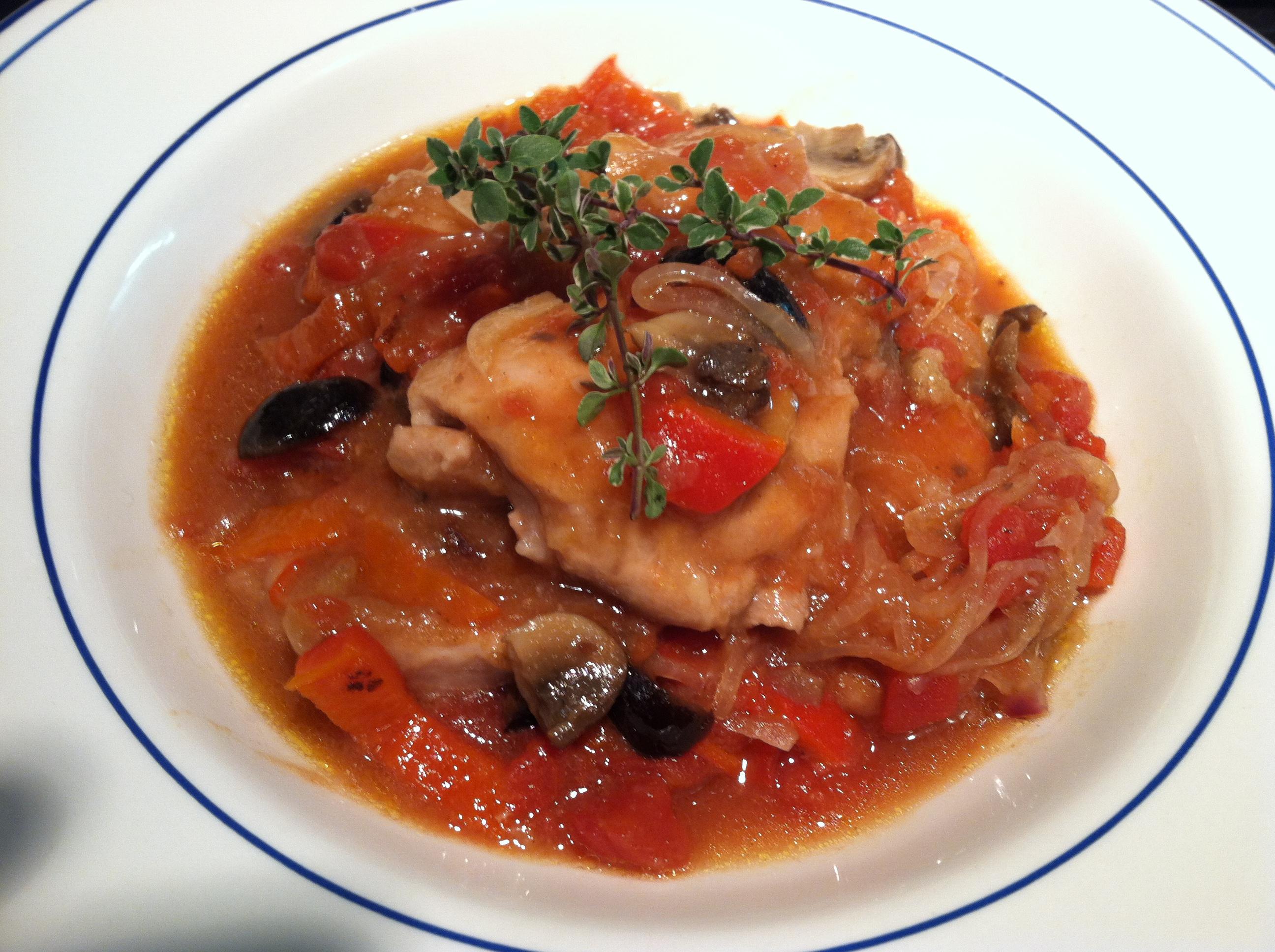 Chicken alla Cacciatore – Red or White Wine?