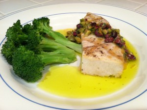 Cab Franc and Swordfish with Rosemary, Olives & Citrus