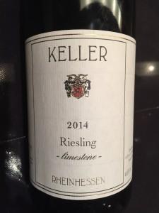 Keller 2014 Riesling bottle.