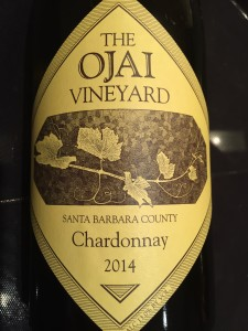 Ojai Vineyard Chardonnay 2014.