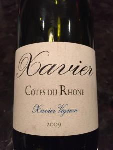 Xavier Cote du Rhone '09