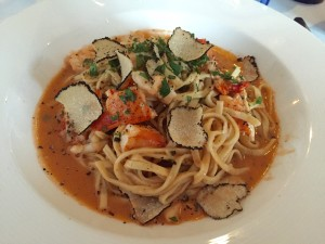 Nebbiolo and Lobster Linguini with Truffles
