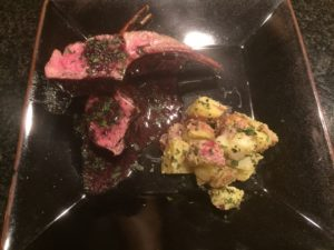 Bordeaux and Lamb Chops with Roasted Garlic-Mint Sauce
