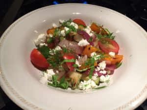 Chenin Blanc and Grilled Vegetable Salad with Feta